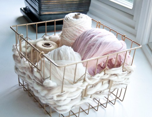 How to Cozy Up a Wire Basket!
