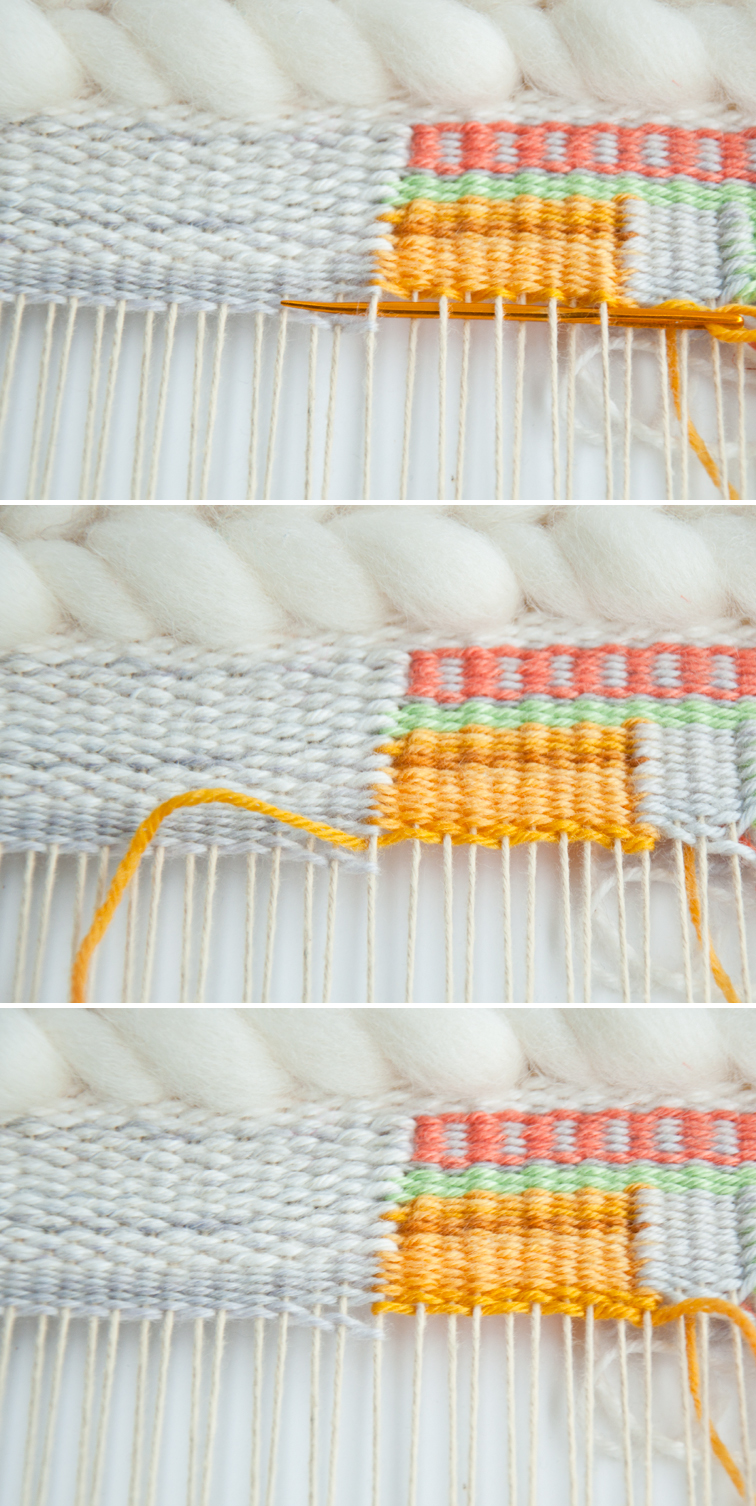 Dovetail Weaving Join, so you can block weave
