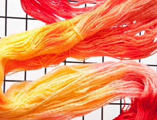 Kool-aid Dip Dyeing Yarn