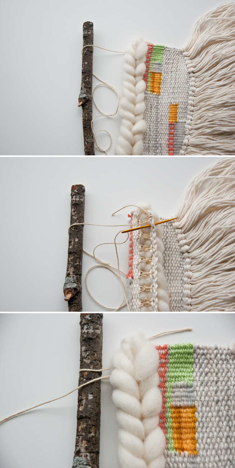A tutorial on how to hang a weave from anything