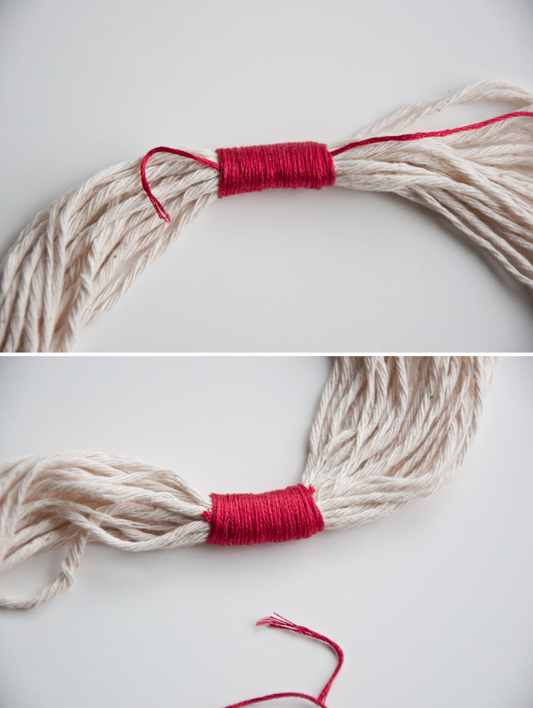 How to Wrap Yarn & add it to a Weave