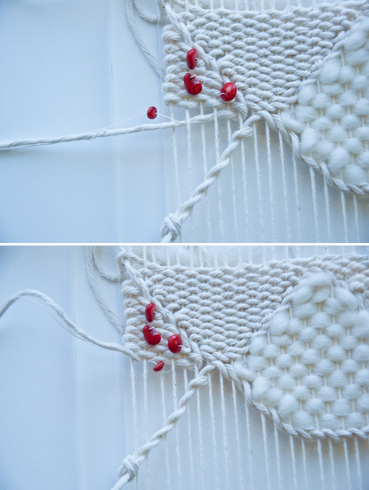 How to Add Beads to a Weave Part 3