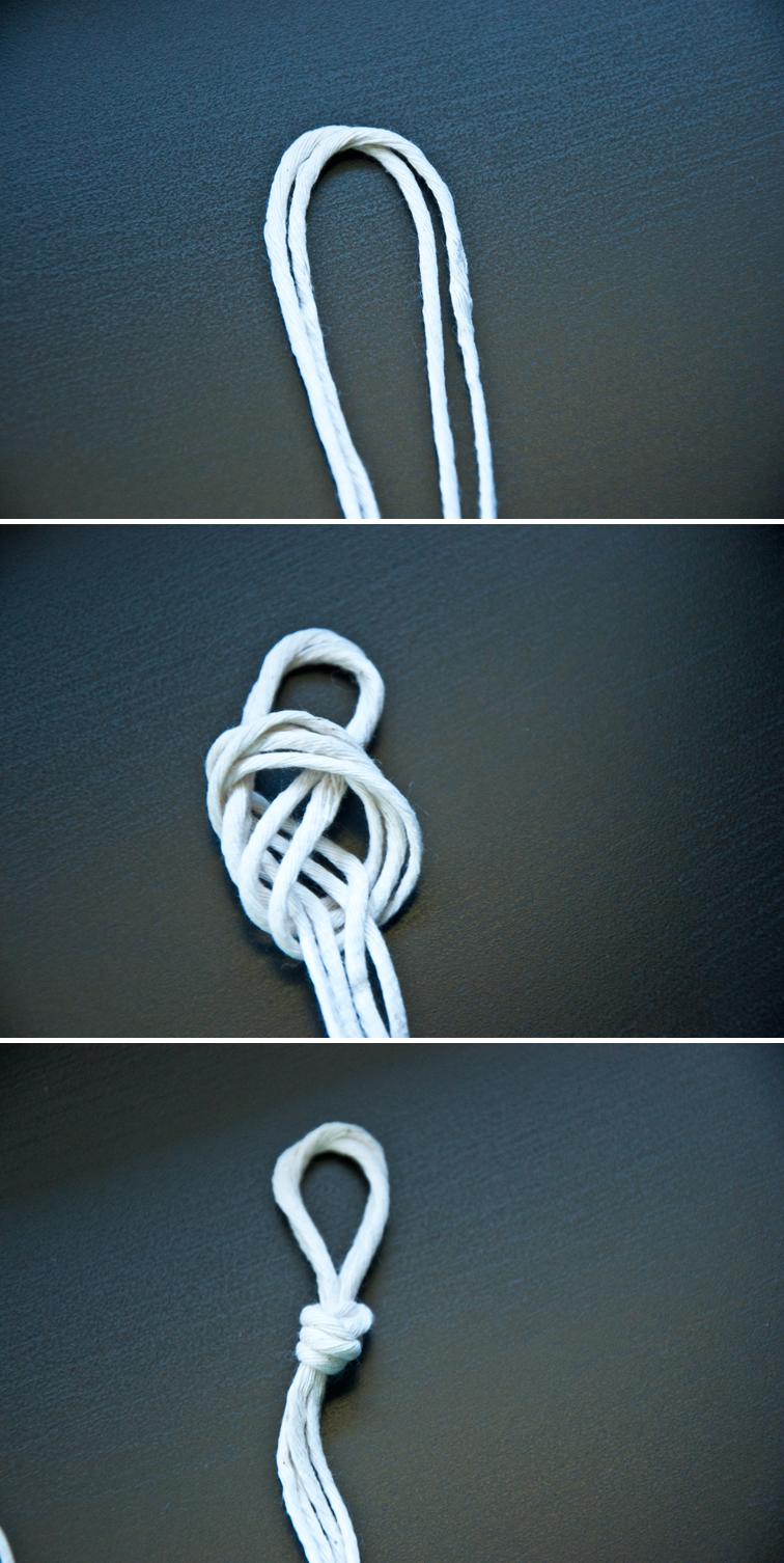 Make your own macrame curtain tieback!