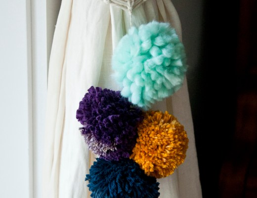 Make your own pom pom curtain tie back!