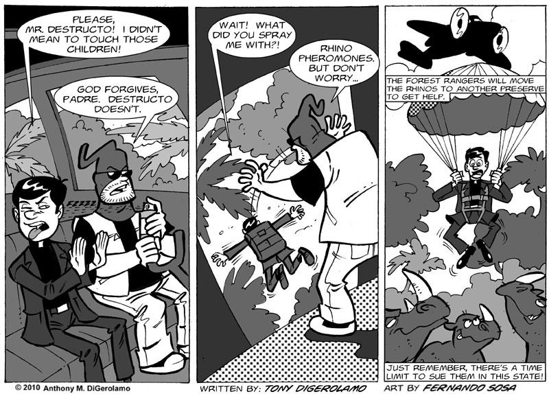 Tony Destructo #11: The Coming Rhino Scandal