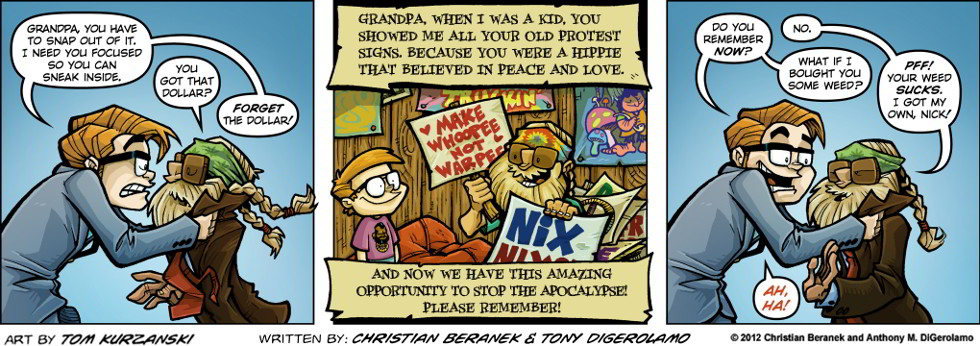 Post Apocalyptic Nick:  Grandpa's Weed