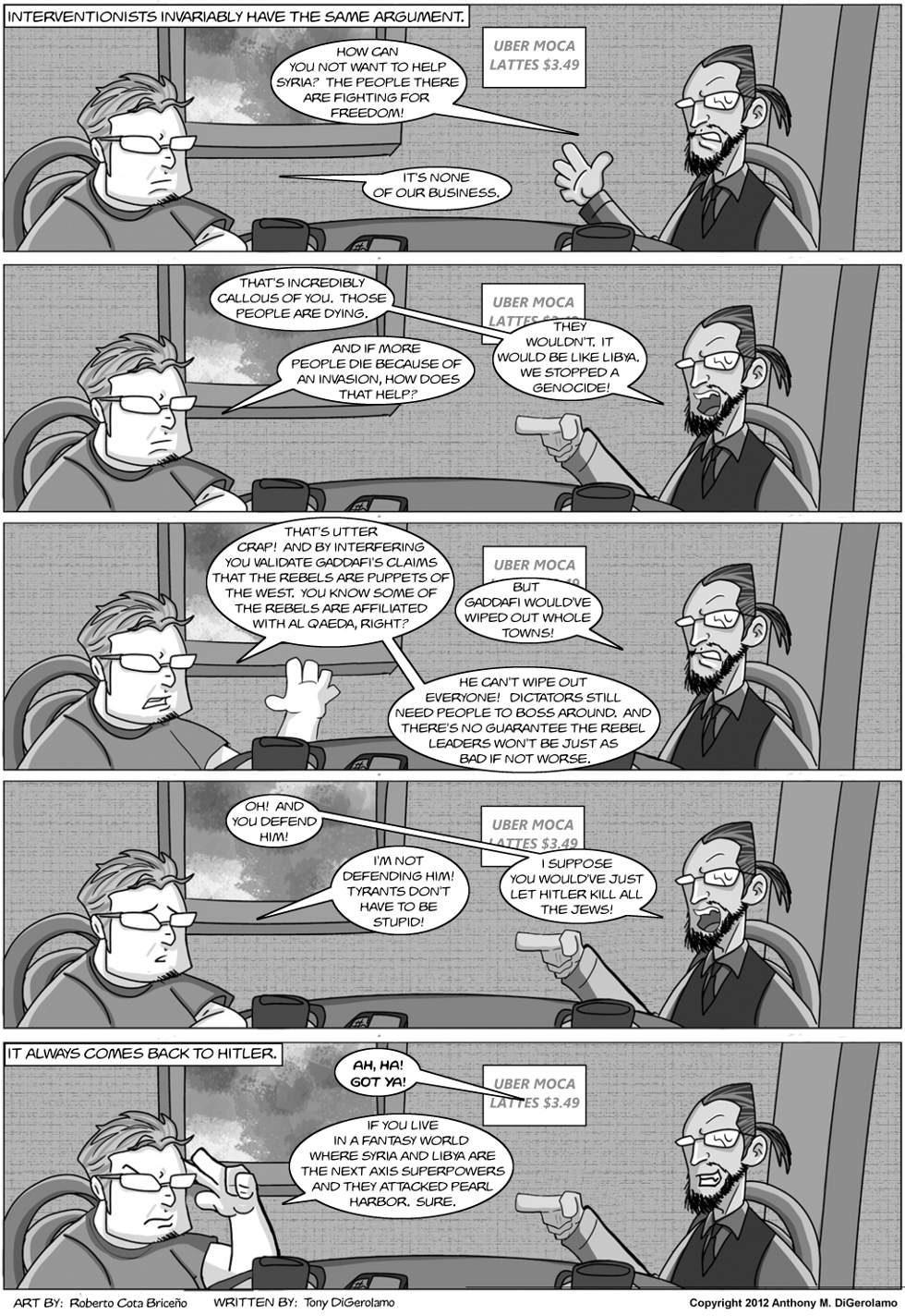 The Antiwar Comic:  The Interventionists' Argument