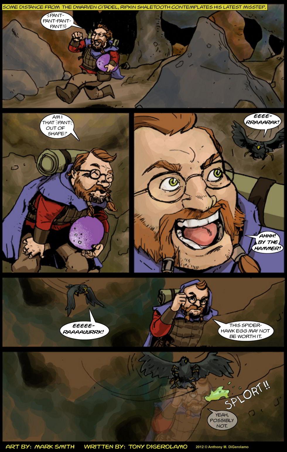 Kingdom of the Dwarves:  Spiderhawk Chase