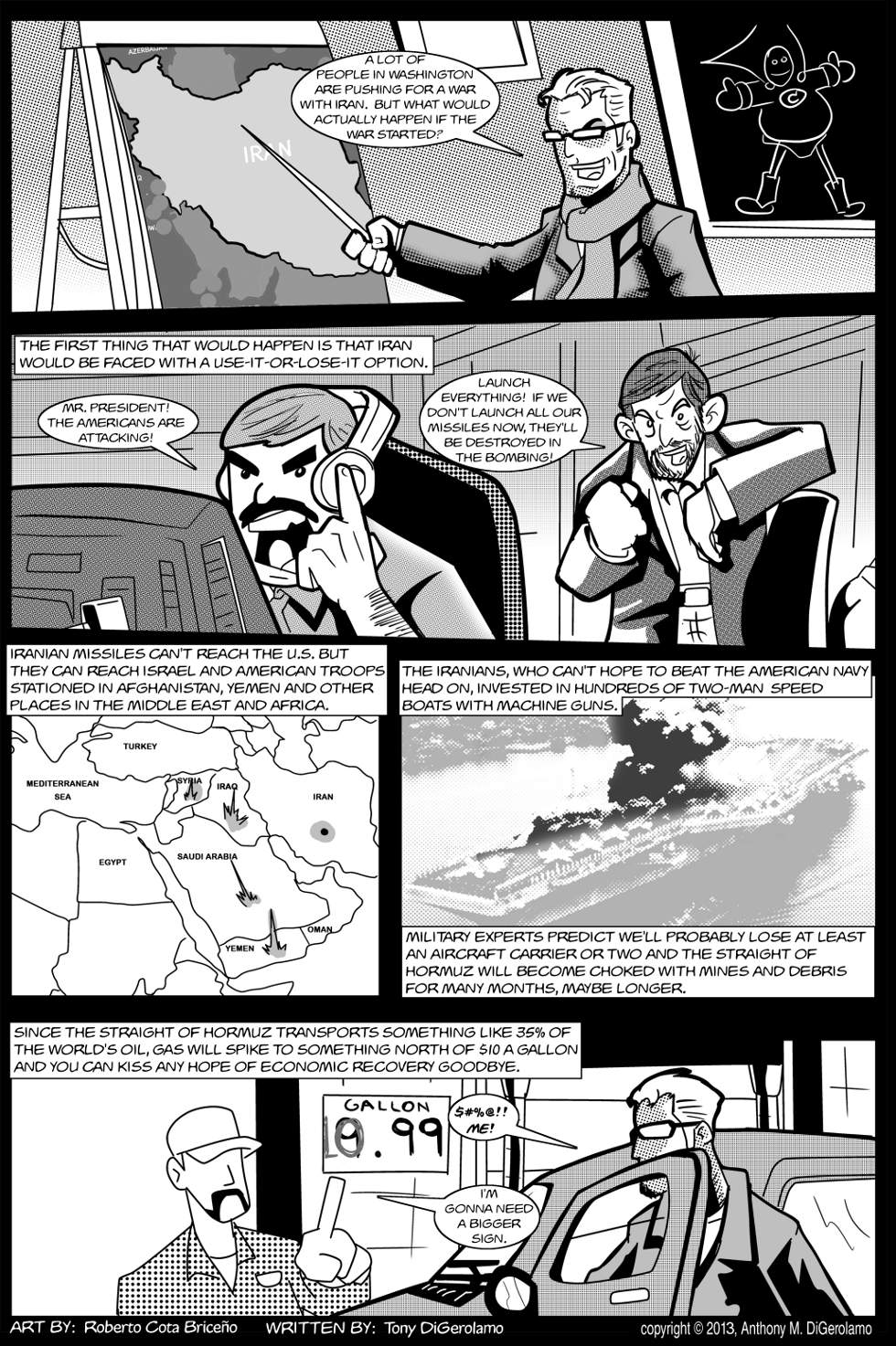 The Antiwar Comic:  Attacking Iran's a Stupid Plan