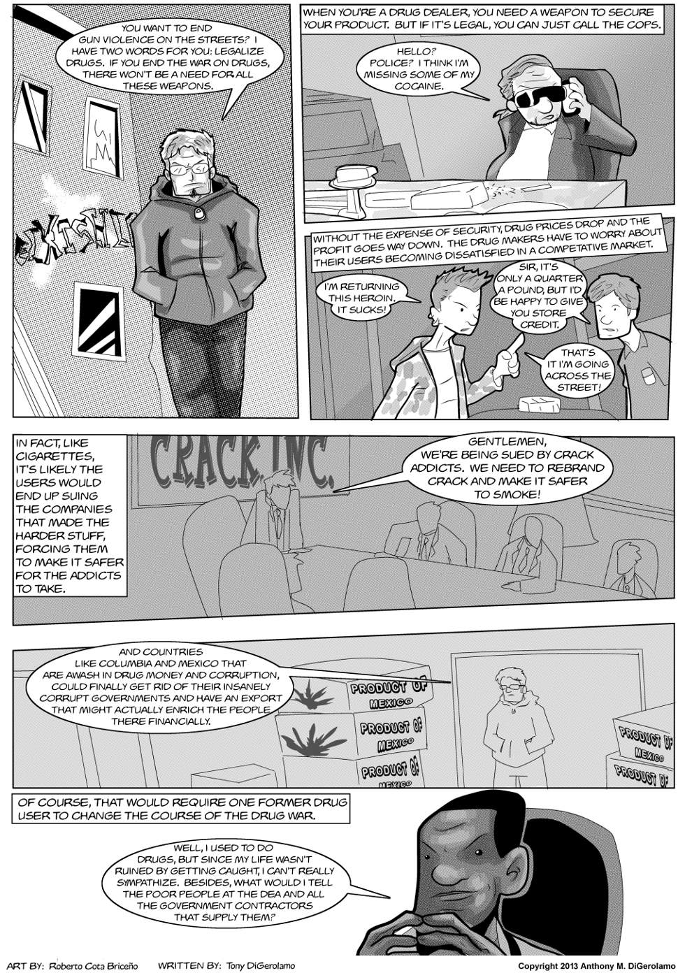 The Antiwar Comic:  The Gun Solution