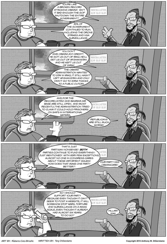 The Antiwar Comic:  Partisan Blinders