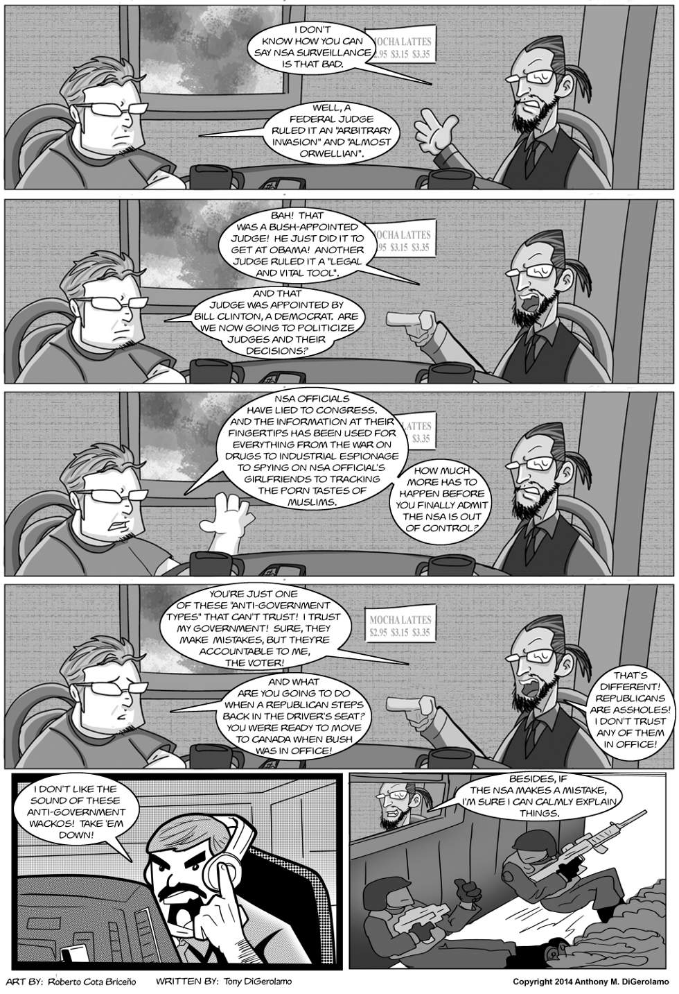 The Antiwar Comic:  Who's the Wacko Now?