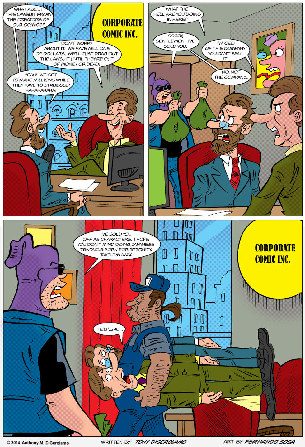 Tony Destructo:  Comic Book Sell Out