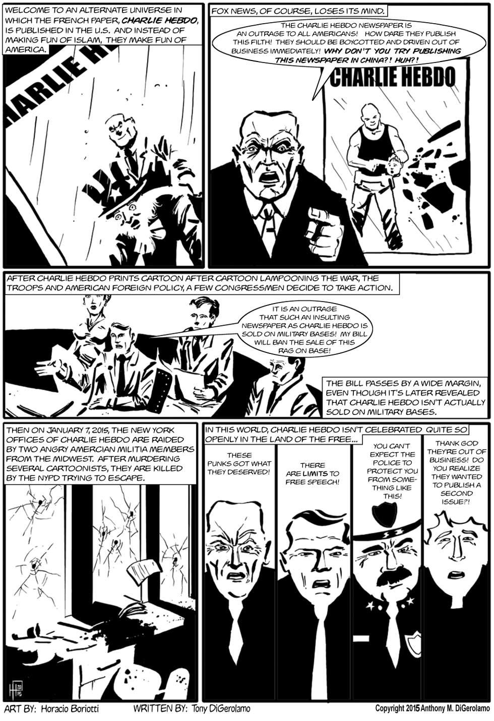 The Antiwar Comic:  Alternate Universe Charlie Hebdo
