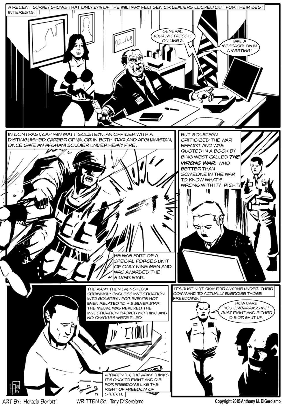 The Antiwar Comic:  The Brass is an Ass
