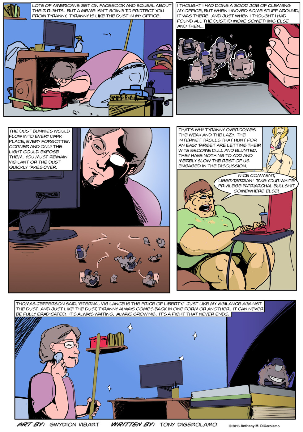 The Antiwar Comic:  The Tyranny of Dust