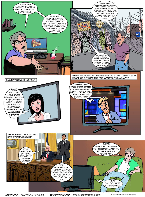 The Antiwar Comic:  Weary of War