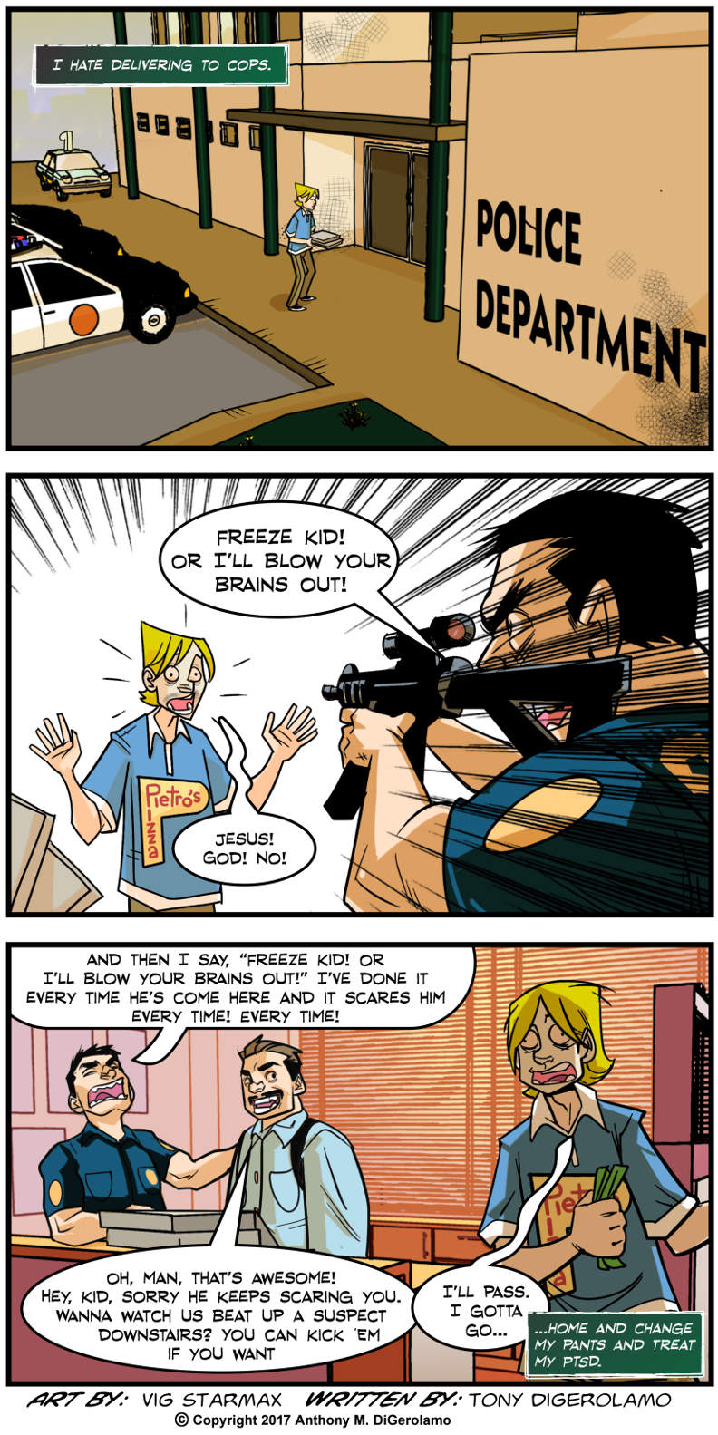 Tales of Pizza:  Cop Humor