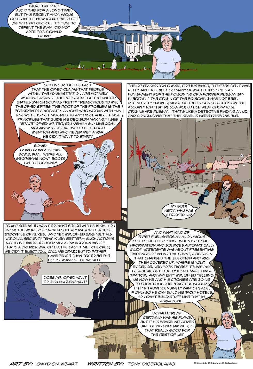 The Antiwar Comic:  My Reluctant Defense of Donald Trump