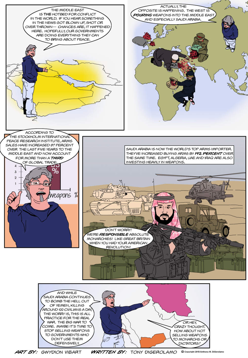 The Antiwar Comic:  Too Many Arms