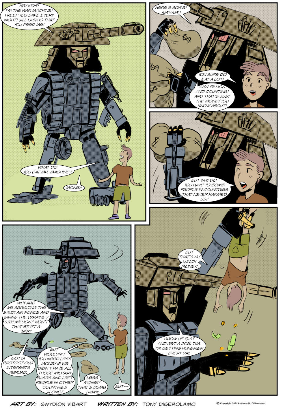 The Antiwar Comic:  Feed the War Machine