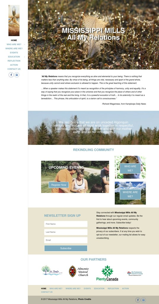 Mississippi Mills All My Relations Full Home Page