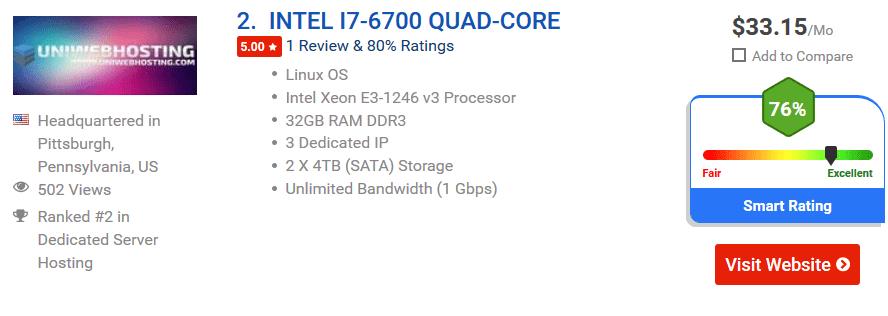 Dedicated server low price i
