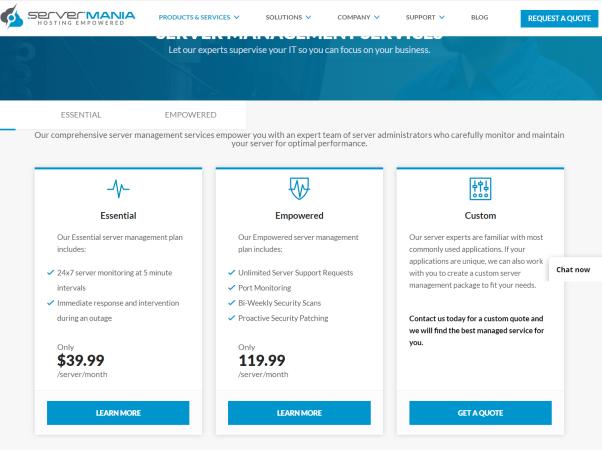 servermania webhosting