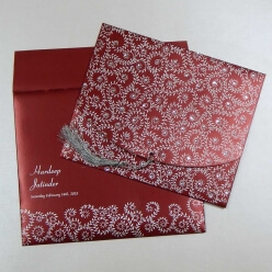 Hindu Wedding Card With Multiple Images