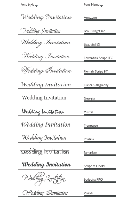 Our Favorite Free Wedding Fonts