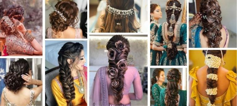 bridal hairstyles for indian wedding functions