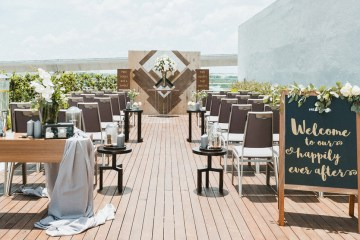 Four Points by Sheraton Puchong Pool Side Deck. Malaysia wedding ceremony venue.