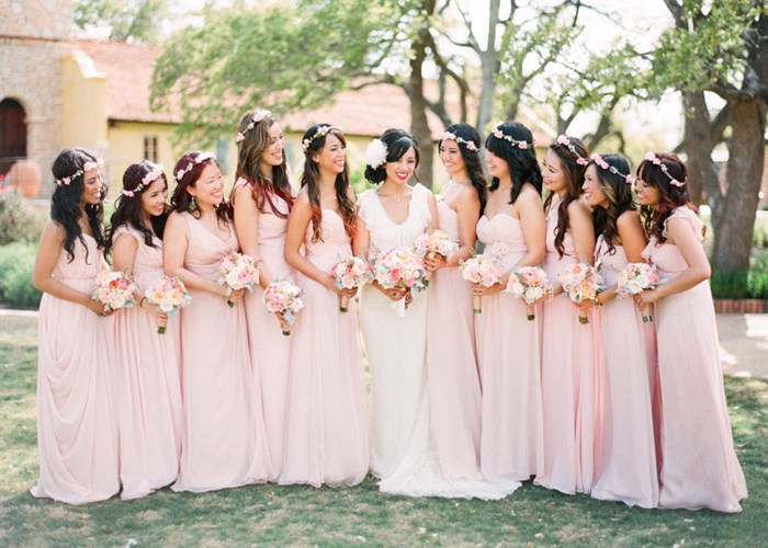 Five Different Looks For Your Bridesmaids The Wedding Notebook