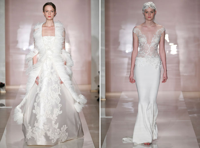 Reem Acra Fall 2014 Bridal Collection. www.theweddingnotebook.com