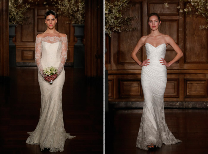 Romona Keveza Couture Spring 2014 Bridal Collection. www.theweddingnotebook.com. Left: 1920's – Gatsby; 1930's – Hollywood Glamour. A gown that has film noir goddess Jean Harlow written all over it