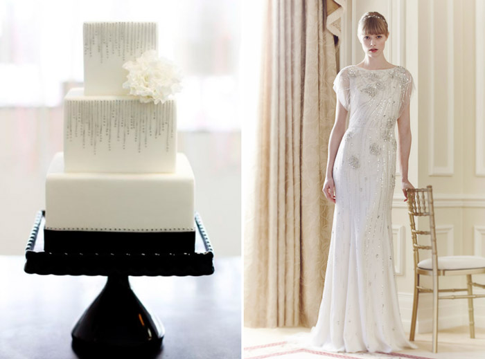 Left: Sweet and Saucy Shop; Right: Jenny Packham. www.theweddingnotebook.com