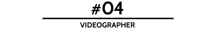 #04 Videographer –5 Things You Should Splurge On For Your Wedding. www.theweddingnotebook.com