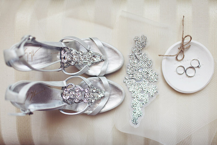 Bridal Shoes by Giuseppe Zanotti. Photo by Sonya Khegay Photography. www.theweddingnotebook.com