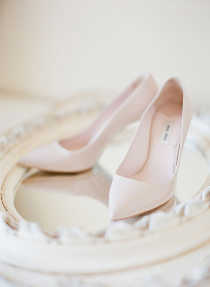 Bridal Shoes by Miu Miu. Photo by Taylor Lord Photography. www.theweddingnotebook.com