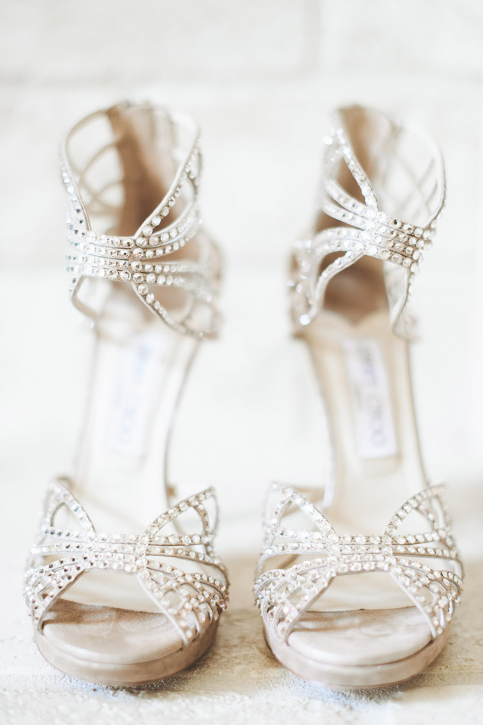 Bridal Shoes by Jimmy Choo. Photo by Paper Antler. www.theweddingnotebook.com