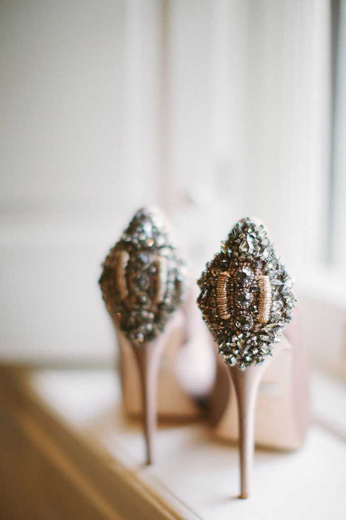Bridal Shoes by Badgley Mischka. Photo by Cmostr Photography