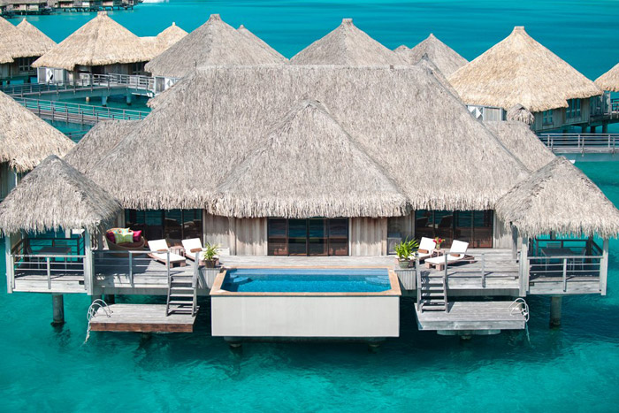 20 Honeymoon Ideas – Tahiti The St. Regis Bora Bora Resort. www.theweddingnotebook.com