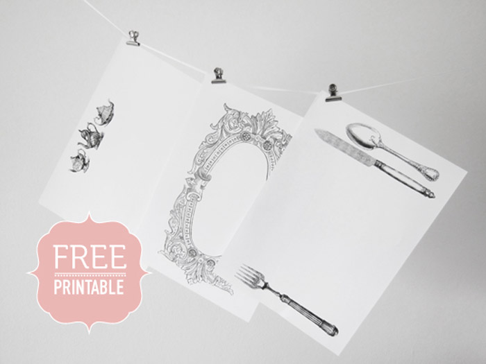 45 Beautiful Free Printables For Your Wedding. www.theweddingnotebook.com