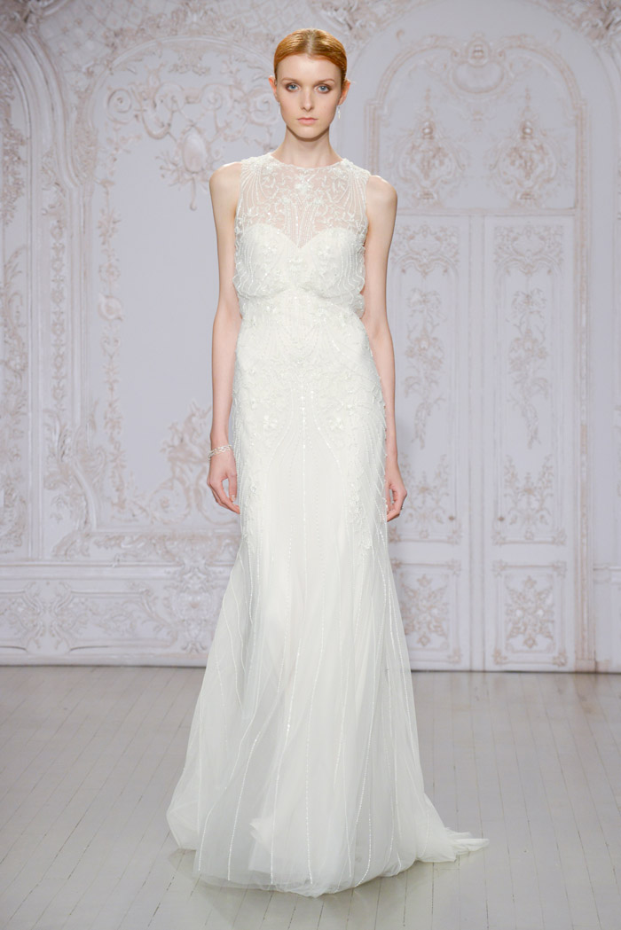 Timeless and Odette shoe – Monique Lhuillier Fall 2015 Bridal Collection. www.theweddingnotebook.com