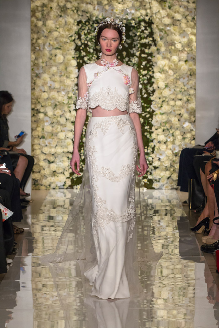 Reem Acra Fall 2015 Bridal Collection. www.theweddingnotebook.com