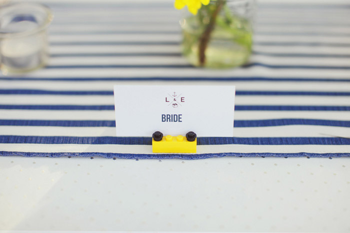 Photo by Ian Photography. LEGO themed inspired wedding. www.theweddingnotebook.com