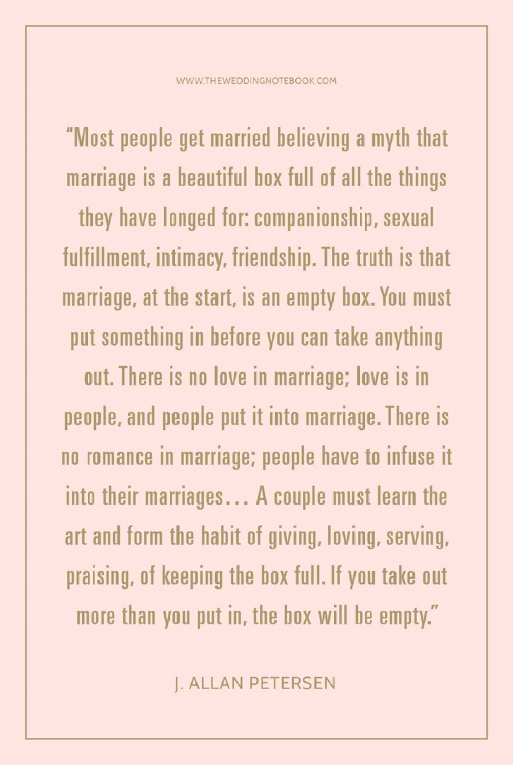 The Meaning Of The Marriage Vow – J. Allan Petersen's quote