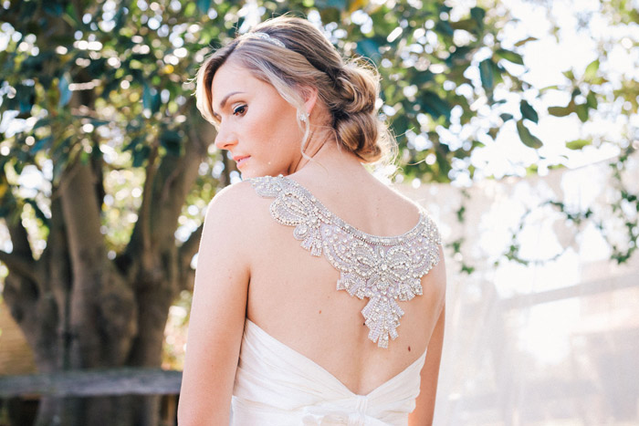 Bridal Gown by Anna Campbell. Studio Something Photography. www.theweddingnotebook.com