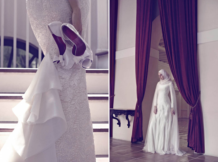 Photo by Chuan Looi. Innai Red 2015 Bridal Collection. www.theweddingnotebook.com