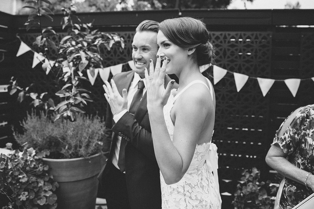 Photo by Wattle and Lace Photography. www.theweddingnotebook.com